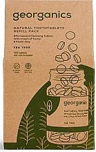 """Voňavky, Parfémy, kozmetika Tablety na čistenie zubov """"Čajovník"""" - Georganics Natural Toothtablets Tea Tree (vymenný blok)"""