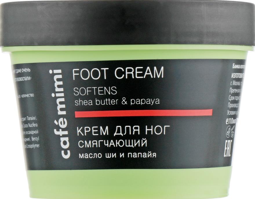 """Krém na nohy """"Zmäkčujúci"""" bambucké maslo a papája - Cafe Mimi Foot Cream Softens"""