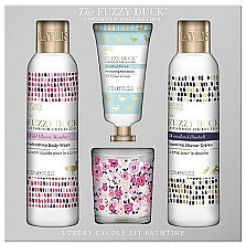 Voňavky, Parfémy, kozmetika Sada - Baylis & Harding The Fuzzy Duck Cotswold Floral Candle Set (sh/gel/250ml + b/lot/250ml + h/cr/30ml + candle/60g)