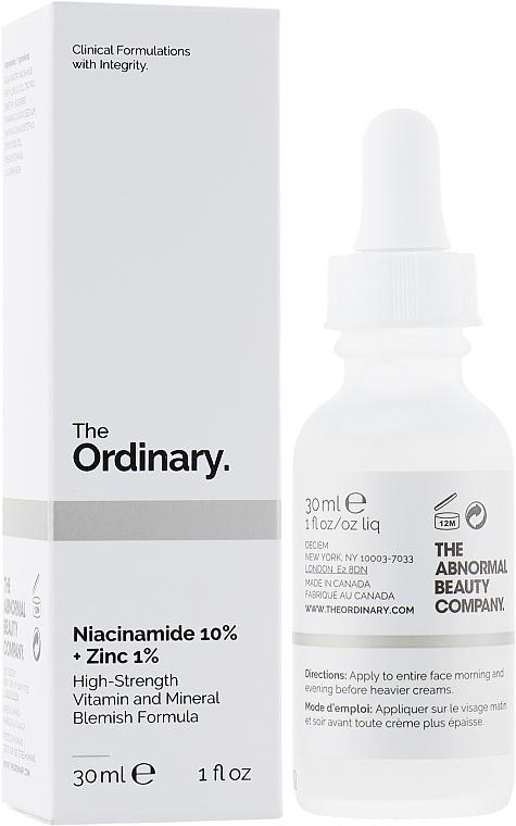 Sérum na tvár s niacínamidom a zinkom - The Ordinary Niacinamide 10% + Zinc PCA 1%