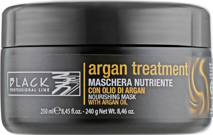 Maska na vlasy s arganovým olejom, keratínom a kolagénom - Black Professional Line Argan Treatment Mask