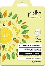 "Voňavky, Parfémy, kozmetika Textilná maska ""Citrón"" - Polka Lemon And Vitamin C Facial Sheet Mask"