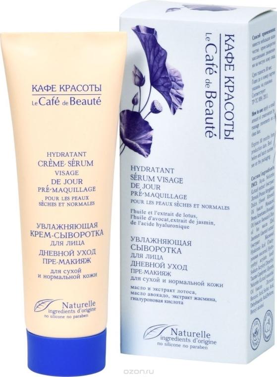 """Hydratačné krémové sérum pre starostlivosť o tvár """"Pre-make-up"""" pre suchú a normálnu pleť - Le Cafe de Beaute Cream Serum Visage"""