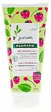 Voňavky, Parfémy, kozmetika Detský gél na umývanie vlasov a tela - Klorane Junior 2in1 Shower Gel Body & Hair Raspberry