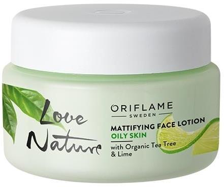 Zmatňujúci balzam na tvár s organickým čajovníkom a limetou - Oriflame Love Nature Mattifyng Face Lotion