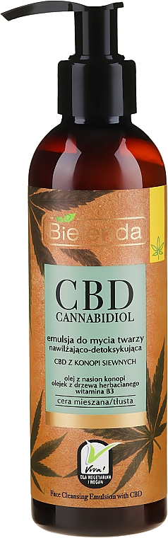 Emulzia na tvár - Bielenda CBD Cannabidiol Emulse