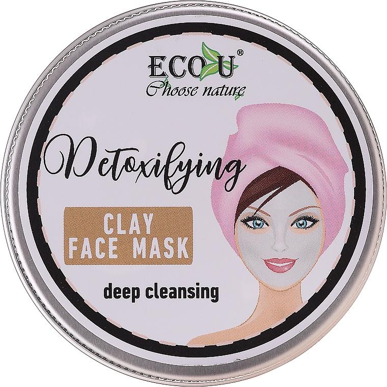"""Maska na tvár """"Hĺbkové čistenie"""" - Eco U Detoxifying Deep Cleansing Clay Face Mask"""