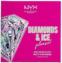 Voňavky, Parfémy, kozmetika Paleta rozjasňovačov - NYX Professional Makeup Diamonds & Ice Please Diamond Highlighting Palette Quad