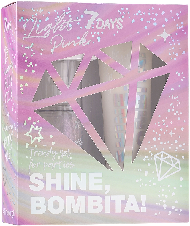 Sada - 7 Days Shine, Bombita! Light Pink (b/mist/135ml + b/milk/150ml) — Obrázky N1