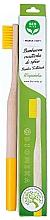 Voňavky, Parfémy, kozmetika Bambusová zubná kefka, mäkká, žltá - Biomika Natural Bamboo Toothbrush