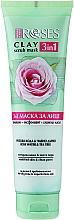 Voňavky, Parfémy, kozmetika Hlinená maska na tvár s ružovou vodou a čajovníkom - Nature Of Agiva Roses Green Clay 3 In 1 Scrub Mask