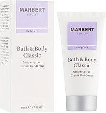 Voňavky, Parfémy, kozmetika Antiperspiračný krémový dezodorant - Marbert Bath & Body Classic Anti-Perspirant Cream Deodorant