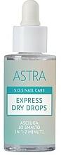Voňavky, Parfémy, kozmetika Kvapky na rýchle schnutie laku - Astra Make-up Sos Nails Care Express Dry Drops
