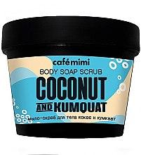 "Voňavky, Parfémy, kozmetika Mydlo-peeling na telo ""Kokos a Kumquat"" - Cafe Mimi Scrub-Soap"