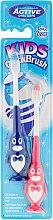 Voňavky, Parfémy, kozmetika Súprava zubných kefiek, 3-6 rokov, tučniak, modrá a ružová - Beauty Formulas Kids Quick Brush