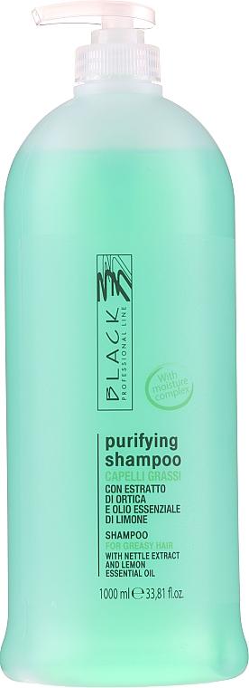 Normalizujúci šampón pre mastné vlasy - Black Professional Line Sebum-Balancing Shampoo