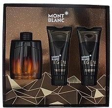 Voňavky, Parfémy, kozmetika Montblanc Legend Night - Sada (edp/100ml + sh/gel/100ml + ash/balm/100ml)