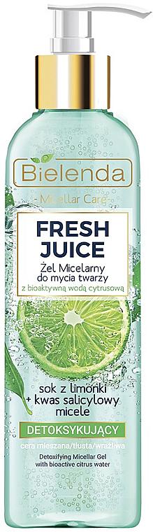 Micelárny gél s detoxovým účinkom - Bielenda Fresh Juice Detox Lime