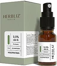 """Voňavky, Parfémy, kozmetika Olejový ústny sprej """"Oliva"""" 2,5% - Herbliz CBD Olive Fresh Oil Mouth Spray 2,5%"""