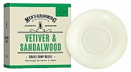 "Voňavky, Parfémy, kozmetika Mydlo na holenie ""Vetiver a santalové drevo"" - Scottish Fine Soaps Vetiver & Sandalwood Shaving Soap Refill"