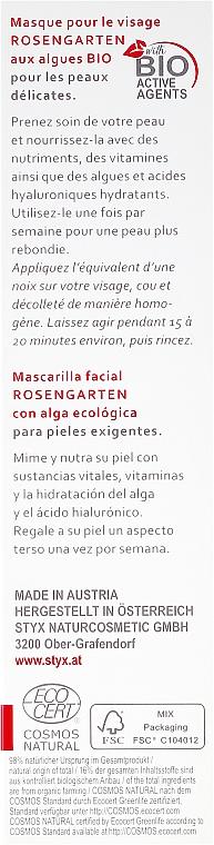 Maska na tvár - Styx Naturcosmetic Rose Garden Intensive Facial Mask — Obrázky N3