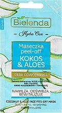 """Voňavky, Parfémy, kozmetika Maska na tvár """"Kokos a Aloe"""" - Bielenda Hydra Care Face Peel Off Mask"""
