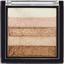 Rozjasňovač na tvár - Makeup Revolution Shimmer Brick — Obrázky N1