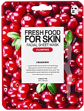 Voňavky, Parfémy, kozmetika Textilná maska na tvár Brusnica - Superfood For Skin Facial Sheet Mask Cranberry Plumping