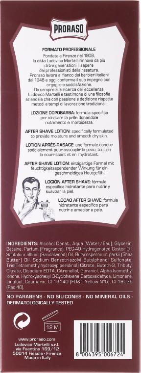 Voda po holení s olejom zo santalového dreva - Proraso After Shave Lotion Sandalwood Red — Obrázky N6