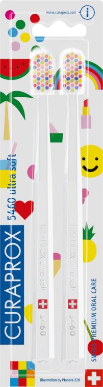 Sada zubných kefiek, biele - Curaprox Ultra Soft Pop Art Edition — Obrázky N1
