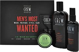 Voňavky, Parfémy, kozmetika Sada - American Crew Men's Most Wanted (shm/250ml + cr/50g + spray/100ml + balm/7.4ml)