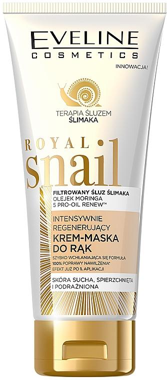 Intenzívne regenerujúca krémová maska na ruky - Eveline Cosmetics Royal Snai