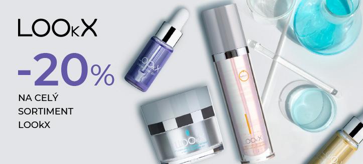 Zľava 20% na celý sortiment LOOkX. Ceny na stránke sú uvedené so zľavou
