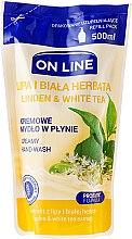 """Voňavky, Parfémy, kozmetika Tekuté mydlo """"Linden a biely čaj"""" - On Line Liquid Soap (vymeniteľná jednotka)"""