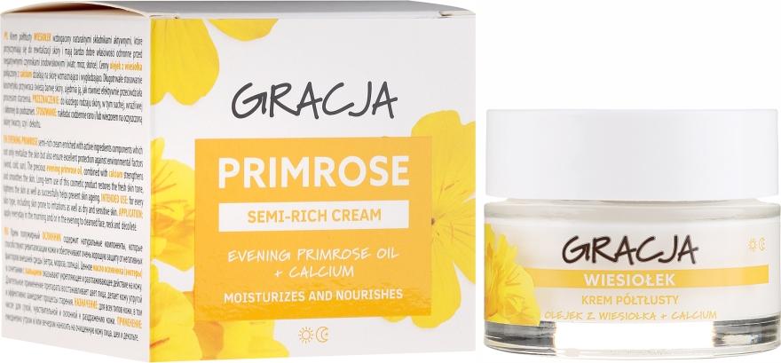 Výživný krém s olejom z pupalky - Gracja Semi-oily Cream With Evening Primrose — Obrázky N1