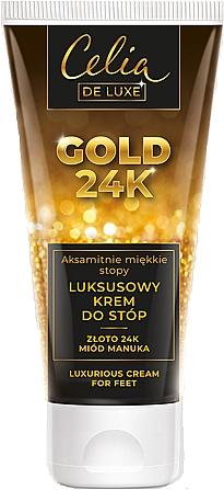 Luxusný krém na nohy - Celia De Luxe Gold 24K Luxurious Foot Cream