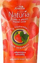 "Voňavky, Parfémy, kozmetika Tekuté mydlo ""Jahody"" - Joanna Naturia Body Strawberry Liquid Soap (Refill)"