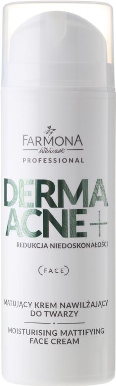 Krém s obsahom matovacích AHA kyselín - Farmona Dermaacne+ Moisturising Mattifying Face Cream