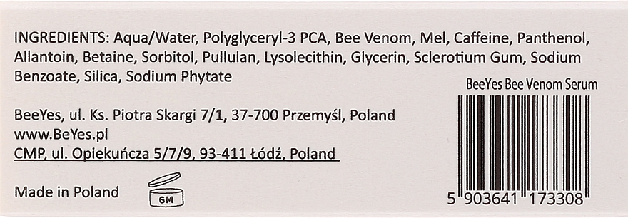 Protistarnúce hydratačné sérum na tvár - BeeYes Bee Venom Eco Serum — Obrázky N4