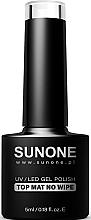 Voňavky, Parfémy, kozmetika Matná vrstva na gélový lak bez lepivej vrstvy - Sunone UV/LED Gel Polish Top Mat No Wipe