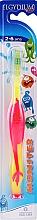 Voňavky, Parfémy, kozmetika Detská zubná kefka, 2-6 rokov, ružová - Elgydium Kids Monster Toothbrush