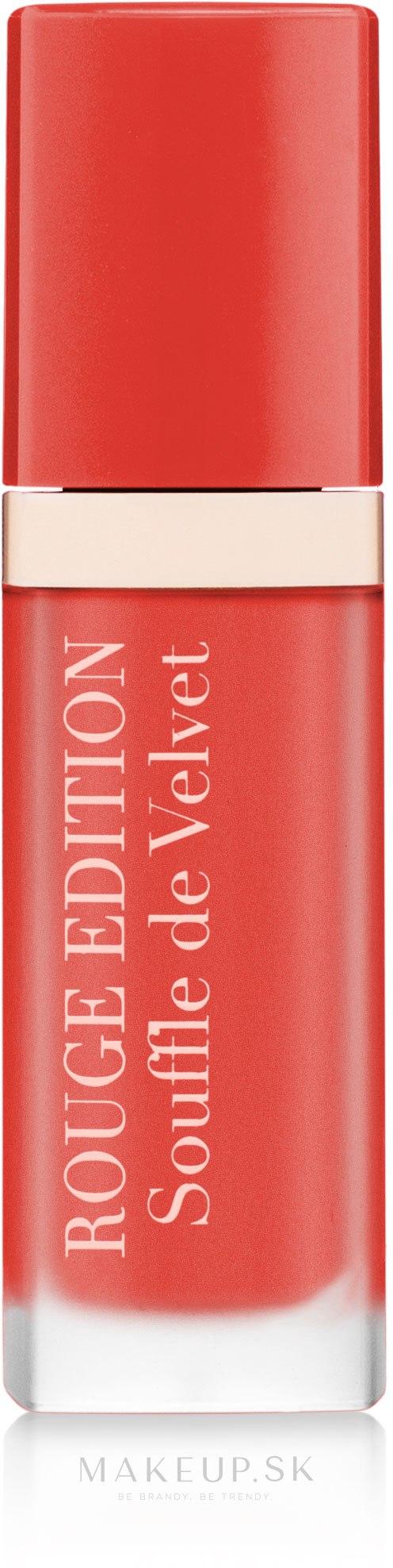 Tekutý matný rúž - Bourjois Rouge Edition Souffle de Velvet Lipstick — Obrázky 01 - Orangeligue