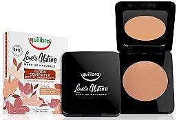 Voňavky, Parfémy, kozmetika Kompaktný bronzujúci púder - Equilibra Love's Nature Compact Bronzing Powder