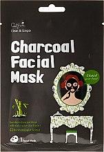 Voňavky, Parfémy, kozmetika Látková maska s bambusovým uhlím - Cettua Charcoal Facial Mask