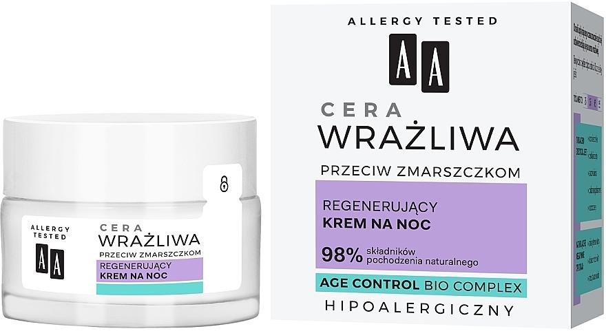 Obnovujúci nočný krém pre citlivú pleť - AA Regenerating Night Cream