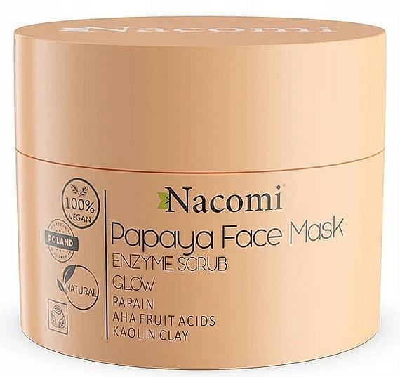 Peelingová maska na báze bielej hliny - Nacomi Papaya Face Mask Enzyme Scrub