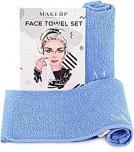 """Voňavky, Parfémy, kozmetika Cestovná sada uterákov na tvár, svetlomodré """"MakeTravel"""" - Makeup Face Towel Set"""
