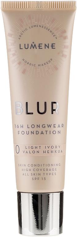 Trvalá tónovacia báza - Lumene Blur 16H Longwear Foundation SPF15 2 Soft Honey