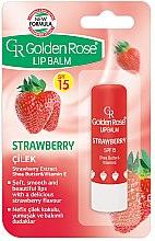 Voňavky, Parfémy, kozmetika Balzam na pery - Golden Rose Lip Balm Strawberry SPF15