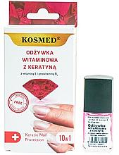 Voňavky, Parfémy, kozmetika Vitamínový lak na nechty s keratínom - Kosmed Colagen Nail Protection 10in1